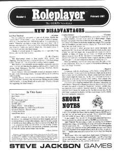 Roleplayer #04 - February 1987